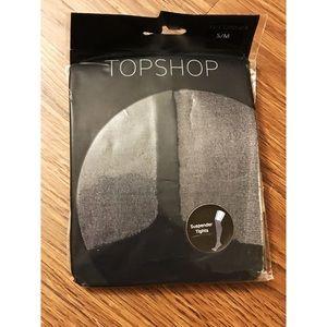 NWT Topshop | Black Suspender tights